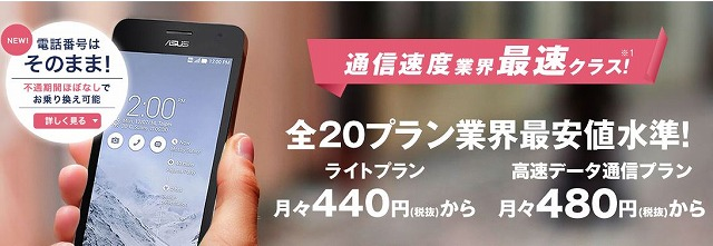 DMMモバイルが格安SIMで最安値